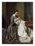 The Seamstress Giclee Print by Charles Baugniet