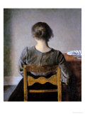 Rest Giclée-tryk af Vilhelm Hammershoi