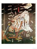 The Last Stand of the Kusanoki Clan, the Battle of Shijo Nawate, 1348, circa .1851 Impressão giclée por Kuniyoshi Utagawa