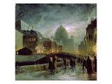 Illuminations in St. Petersburg, 1869 Giclée-Druck von Fedor Aleksandrovich Vasiliev