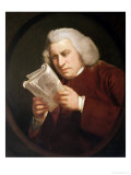 Dr. Johnson (1709-84) 1775 Giclee-trykk av Sir Joshua Reynolds