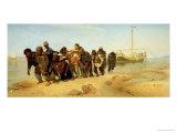 The Boatmen on the Volga, 1870-73 Giclee Print by Ilya Efimovich Repin