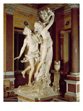 Apollo and Daphne, 1622-25 (Marble) Giclée-tryk af Bernini, Giovanni Lorenzo