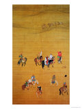 Kublai Khan (1214-94) Hunting, Yuan Dynasty Gicléedruk van  Liu Kuan-tao