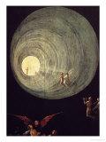 L'ascension de l'homme béni, détail du panneau d'un retable que l'on pense être le Dernier jugement Reproduction procédé giclée par Hieronymus Bosch