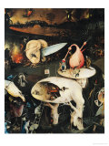 The Garden of Earthly Delights: Hell, Right Wing of Triptych, circa 1500 Giclée-tryk af Hieronymus Bosch