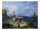 Landscape with Two Windmills, 1612 Giclée-Druck von Jan Brueghel the Elder