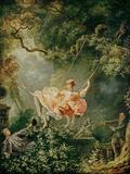 The Swing Giclée-tryk af Jean-Honoré Fragonard