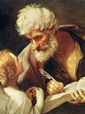 Saint Matthew Giclée-tryk af Guido Reni