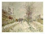 Snow Effect Giclée-Druck von Claude Monet