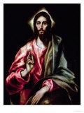 Christ Blessing Lámina giclée por  El Greco