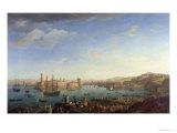 The Entrance to the Port of Marseilles, 1754 Giclée-Druck von Claude Joseph Vernet
