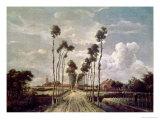 The Avenue at Middelharnis, 1689 Lámina giclée por Meindert Hobbema