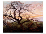 The Tree of Crows, 1822 Giclée-tryk af Caspar David Friedrich