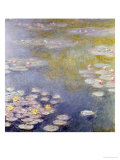 Nympheas at Giverny, 1908 Giclée-tryk af Claude Monet
