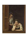Women from Galicia at the Window, 1670 Giclée-Druck von Bartolome Esteban Murillo