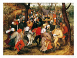 The Wedding Dance, 1607 Giclée-tryk af Pieter Brueghel the Younger