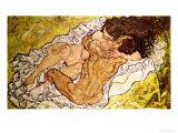Omfavnelsen, 1917 Giclée-tryk af Egon Schiele