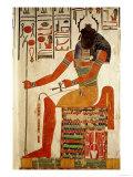 The God, Khepri, from the Tomb of Nefertari, New Kingdom (Wall Painting) Lámina giclée