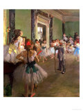 The Dancing Class, circa 1873-76 Gicléetryck av Edgar Degas