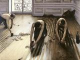 Udjævning af parketgulv, 1875 Giclée-tryk af Gustave Caillebotte