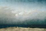 Munk ved havet, 1809 Giclee-trykk av Caspar David Friedrich