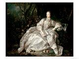 Madame De Pompadour (1721-64) Lámina giclée por Boucher, Francois