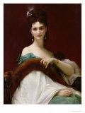 La Comtesse De Keller, 1873 Giclee Print by Alexandre Cabanel