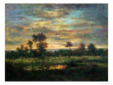 Pond at the Edge of a Wood Giclee Print by Théodore Rousseau