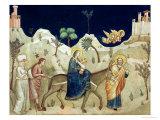 The Flight into Egypt Giclée-tryk af  Giotto di Bondone