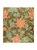 """""""Single Stem"""" Wallpaper Design Reproduction procédé giclée par William Morris"""