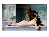The Massage, 1883 Gicléedruk van Edouard Debat-Ponsan