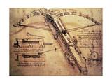 Gigantisk katapult, ca. 1499 Giclee-trykk av  Leonardo da Vinci