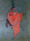 The Red Head, circa 1915 Giclée-tryk af Amedeo Modigliani