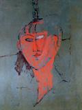 The Red Head, circa 1915 ジクレープリント : アメディオ・モディリアーニ