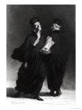 Two Lawyers, circa 1862 Reproduction procédé giclée par Honore Daumier