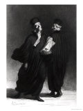 Two Lawyers, circa 1862 Lámina giclée por Honore Daumier