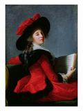 La Baronne De Crussol, 1785 Reproduction procédé giclée par Elisabeth Louise Vigee-LeBrun