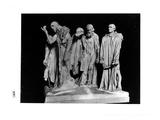 The Burghers of Calais, 1889 (Plaster) (B/W Photo) Giclee Print by Auguste Rodin