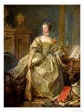 Madame De Pompadour (1721-64) Giclée-tryk af Francois Boucher