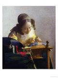 The Lacemaker, 1669-70 Giclée-tryk af Johannes Vermeer