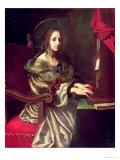 St. Cecilia (Patron of Musicians) Lámina giclée por Carlo Dolci