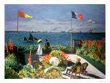 The Terrace at Sainte-Adresse, 1867 Giclée-tryk af Claude Monet