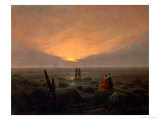 Moon Rising over the Sea, 1821 ジクレープリント : カスパル・ダーヴィト・フリードリヒ