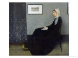 Arrangement in Grey and Black No.1: Portrait of the Artist's Mother, c.1871 Giclée-tryk af James Abbott McNeill Whistler