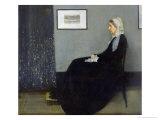 Arrangement in Grey and Black No.1: Portrait of the Artist's Mother, c.1871 Gicléedruk van James Abbott McNeill Whistler