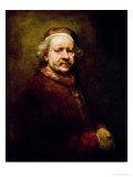 Self Portrait in at the Age of 63, 1669 Impressão giclée por  Rembrandt van Rijn