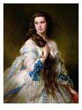 Portrait of Madame Rimsky-Korsakov (1833-78) Nee Varvara Dmitrievna Mergassov, 1864 Reproduction procédé giclée par Franz Xaver Winterhalter