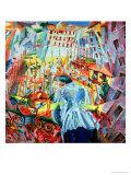 The Street Enters the House, 1911 Reproduction procédé giclée par Umberto Boccioni