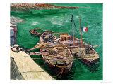 Landing Stage with Boats, c.1888 Giclee-trykk av Vincent van Gogh